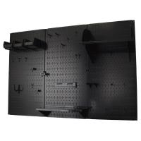 Wall Control 4' Metal Pegboard Standard Tool Storage Kit - Black Toolb