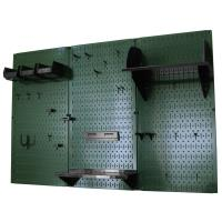 Wall Control 4' Metal Pegboard Standard Tool Storage Kit - Green Toolb
