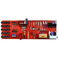 Wall Control 8' Metal Pegboard Master Workbench Kit - Red Toolboard an
