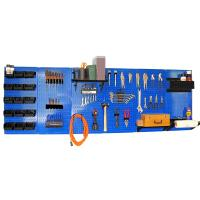 Wall Control 8' Metal Pegboard Master Workbench Kit - Blue Toolboard a