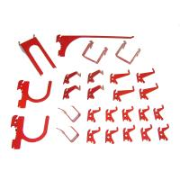 Wall Control Slotted Metal Pegboard Hook Kit - Red Toolboard Hooks