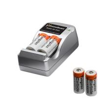 ExtremeBeam 3v CR123 Battery Charge Kit and 4 Batteries
