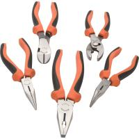 Dynamic Tools 5pc Plier Set with Comfort Grip Handles