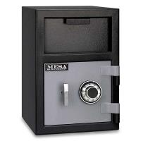 Mesa Depository Safe with Combination Lock 0.8 cu. ft. Black and Gray
