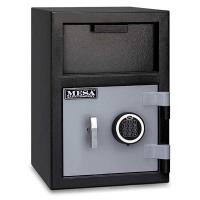 Mesa Depository Safe with Electronic Lock 0.8 cu. ft. Black and Gray M