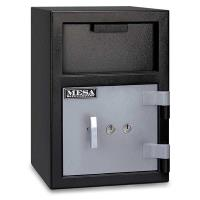 Mesa Depository Safe with Key Lock 0.8 cu. ft. Black and Gray Model MF