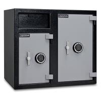 Mesa Depository Safe with Two Electronic Locks 6.7 cu. ft. Black and G