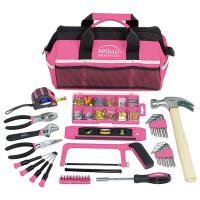 Apollo Tools Household Tool Kit Pink 201 pieces Model DT0020P
