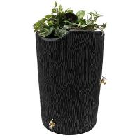 Good Ideas Impressions Bark Rain Saver 50 Gallon Black