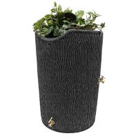 Good Ideas Impressions Bark Rain Saver 50 Gallon Dark Granite