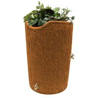 Good Ideas Impressions Bark Rain Saver 50 Gallon Terra Cotta