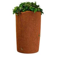 Good Ideas Impressions Bark Rain Saver 90 Gallon Terra Cotta