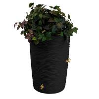 Good Ideas Impressions Palm Rain Saver 50 Gallon Black