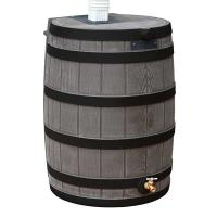 Good Ideas Rain Wizard 40 with Darkened Ribs 40 Gallon Oak