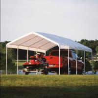 ShelterLogic 12 ft. x 26 ft. White Canopy Replacement Cover Fits 2 in.