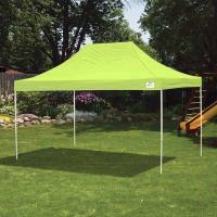 ShelterLogic 10 ft. x 15 ft. Pro Pop-up Canopy Straight Leg Green Cove