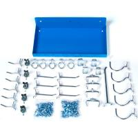 Triton Blue Steel Shelf for DuraBoard with 36 Pc Hook Assortment
