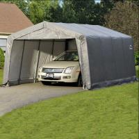 ShelterLogic Garage-in-a-Box 12' x 16' x 8' Compact Peak Style Gray