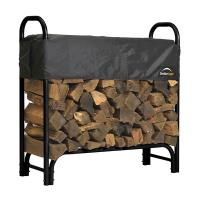 ShelterLogic Firewood Rack-in-a-Box Heavy Duty with Cover 4'