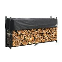 ShelterLogic Firewood Rack-in-a-Box Ultra Heavy Duty with Cover 8'