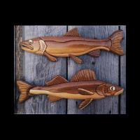 PS Wood Walleye and Trout Intarsia Pattern