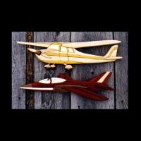 PS Wood Airplanes Intarsia Pattern
