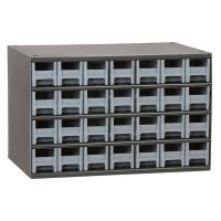 Akro-Mils 28 Drawer Steel Storage Cabinet with Gray Drawers