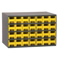 Akro-Mils 28 Drawer Steel Storage Cabinet with Yellow Drawers