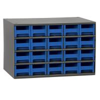 Akro-Mils 20 Drawer Steel Storage Cabinet with Blue Drawers