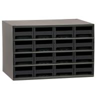 Akro-Mils 16 Drawer Steel Storage Cabinet with Black Drawers