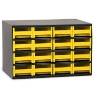 Akro-Mils 16 Drawer Steel Storage Cabinet with Yellow Drawers