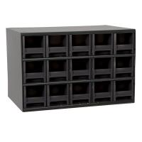 Akro-Mils 15 Drawer Steel Storage Cabinet with Black Drawers