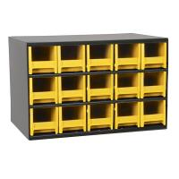 Akro-Mils 15 Drawer Steel Storage Cabinet with Yellow Drawers