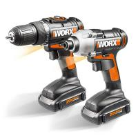Worx 20V Cordless 2-Piece Combo Kit with Drill and Impact Driver