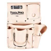 ToolPro 8-Pocket Drywall Pouch Left Handed Top Grain Leather