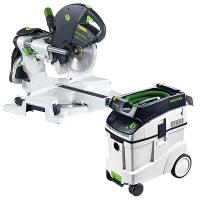 Festool KS 120 Dual Compound Sliding Miter Saw w/out T-LOC   CT 48 Dus