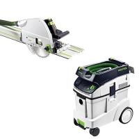 Festool TS 75 EQ Plunge-cut Saw with T-LOC   CT 48 Dust Extractor Pack