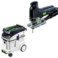 Festool PS 300 EQ Jigsaw with T-LOC   CT 48 Dust Extractor Package