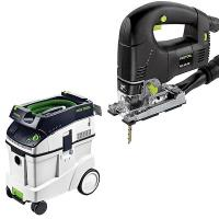 Festool PSB 300 EQ Jigsaw with T-LOC   CT 48 Dust Extractor Package