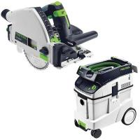 Festool TS 55 REQ Plunge-Cut Saw with T-Loc plus CT 48 Dust Extractor