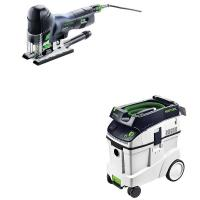 Festool Carvex PS 420 EBQ Plus Jigsaw with T-LOC   CT 48 Dust Extracto