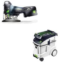 Festool Carvex PSC 420 EB Jigsaw with T-LOC   CT 48 Dust Extractor Pac