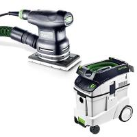 Festool RTS 400 EQ Sander with T-LOC   CT 48 Dust Extractor Package