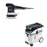 Festool ETS 150/5 EQ Random Orbital Sander with CT 48 HEPA Dust Extrac