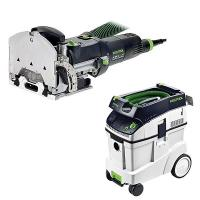 Festool DF 500 Q Domino with T-LOC   CT 48 Dust Extractor Package