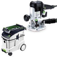 Festool OF 1010 EQ Router with T-LOC   CT 48 Dust Extractor Package