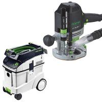Festool OF 1400 EQ Router with T-LOC   CT 48 Dust Extractor Package