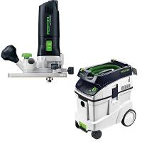 Festool MFK 700 Eq Trim Router with T-LOC   CT 48 Dust Extractor Packa