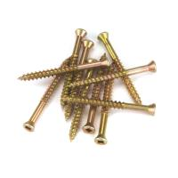 7 x 1 HighPoint Square Drive Woodworking Screws Trim Head Yellow Zinc
