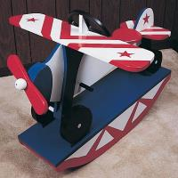 Woodworking Project Paper Plan to Build Rocking Airplane No. 783